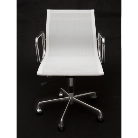 D2 CH Fotel biurowy inspirowany EA117 siateczka 59x58 cm, chrom/biały 27736
