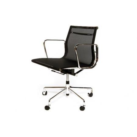 D2 CH Fotel biurowy inspirowany EA117 siateczka 59x58 cm, chrom/czarny 27739