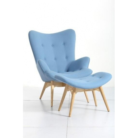 D2 Contour Fotel z podnóżkiem 73x81x94 cm, niebieski 64268