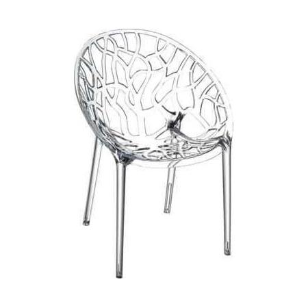 D2 Coral Krzesło 59x60 cm, jasnoszare/przezroczyste 24694