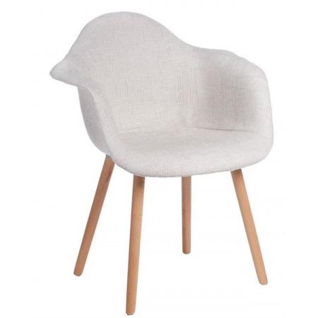 D2 CosyArm Krzesło tapicerowane 62x44 cm, białe 41461