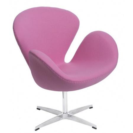 D2 Cup Fotel inspirowany projektem Swan kaszmir 72x65 cm, różowy 25343