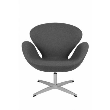 D2 Cup Fotel inspirowany projektem Swan kaszmir 72x65 cm, szary 24944