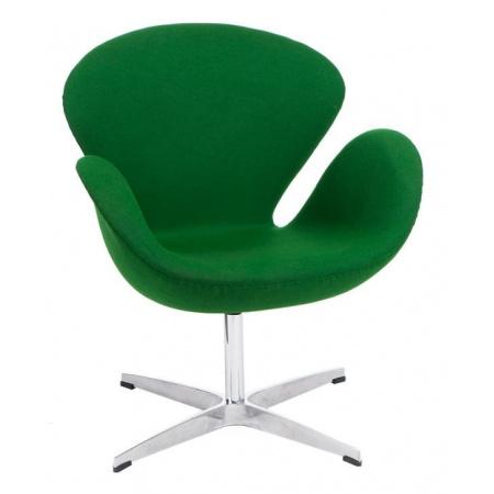 D2 Cup Fotel inspirowany projektem Swan kaszmir 72x65 cm, zielony 25331