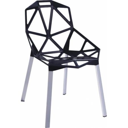 D2 Gap Krzesło inspirowane One Chair 55x57 cm, czarne 3270