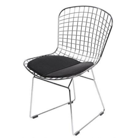 D2 Harry Krzesło inspirowane Diamond Chair 52x58 cm, czarne 5203