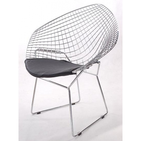 D2 HarryArm Krzesło inspirowane Diamond Armchair 84x70 cm, czarne 3479
