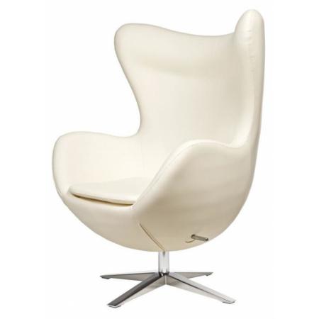 D2 Jajo Fotel szeroki eko skóra 80x47 cm, biały 42134