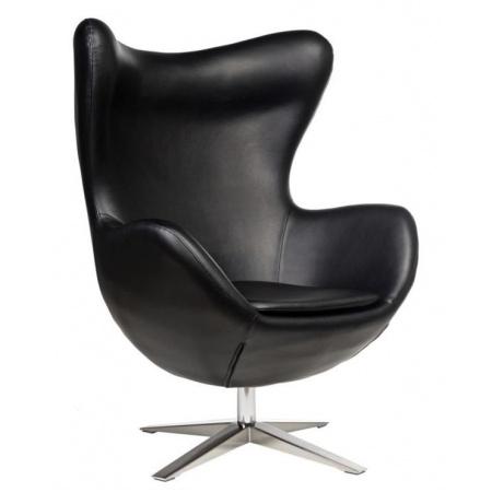 D2 Jajo Fotel szeroki eko skóra 80x47 cm, czarny 42138