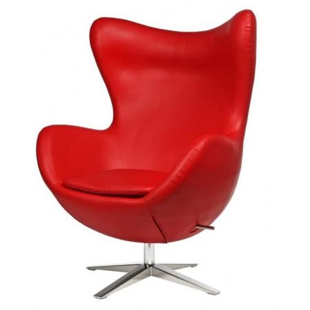 D2 Jajo Fotel szeroki eko skóra 80x47 cm, czerwony 42142