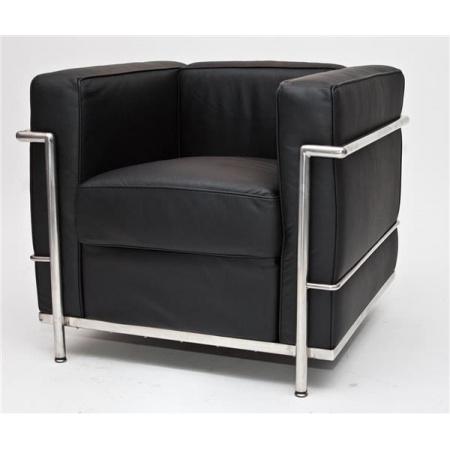 D2 Kubik Fotel 75x68 cm skóra TP, czarny 24983