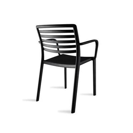 D2 Lama Krzesło z podłokietnikami 57x54 cm, czarne 23006