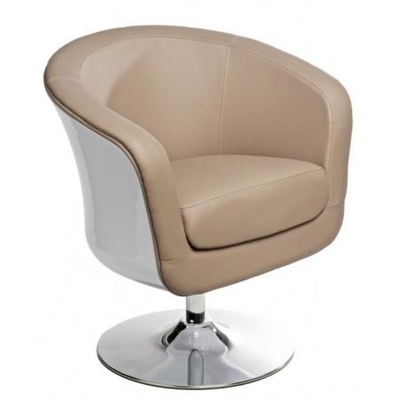 D2 Magnum Fotel obrotowy 70x55 cm, biały/beżowy 41869