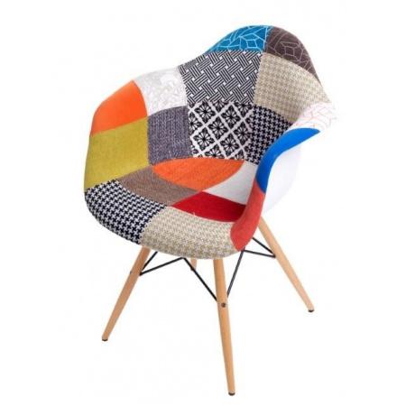 D2 P018 Krzesło inspirowane DAW patchwork 62x58 cm, kolorowe D2P018DAW