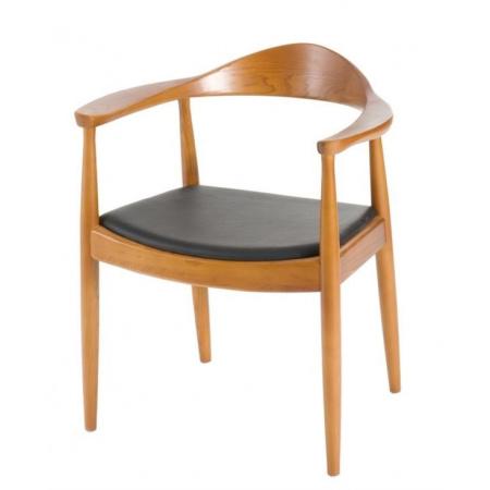 D2 President Krzesło inspirowane Kennedy 63x54 cm, jasnobrązowe 18604