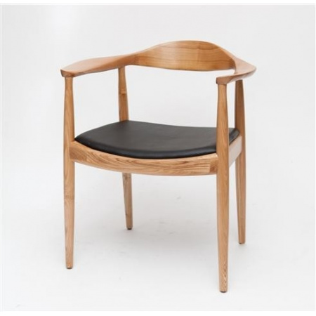 D2 President Krzesło inspirowane Kennedy 63x54 cm, naturalne 14554