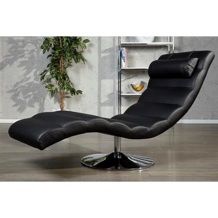 D2 Relax Leżanka 170x60 cm ekoskóra, czarna 27309