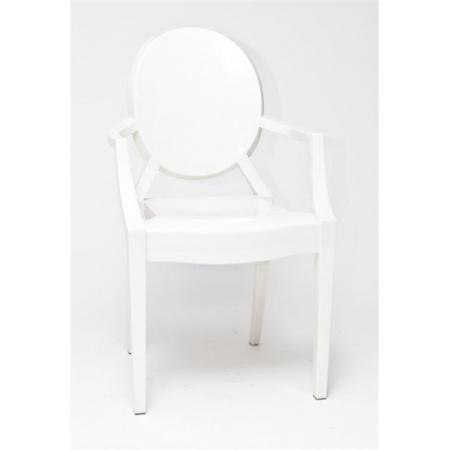 D2 Royal Krzesło inspirowane Louis Ghost 54x57 cm, białe 3343