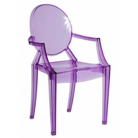 D2 Royal Krzesło inspirowane Louis Ghost 54x57 cm, fioletowe/przezroczyste 48938