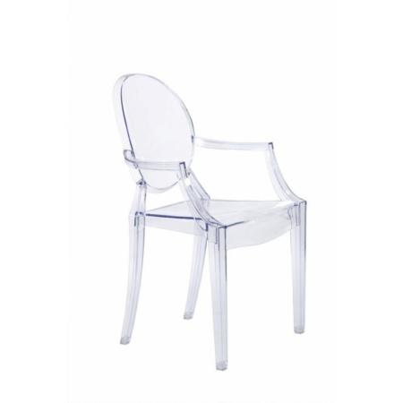 D2 Royal Krzesło inspirowane Louis Ghost 54x57 cm, przezroczyste 3293