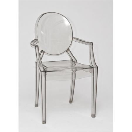 D2 Royal Krzesło inspirowane Louis Ghost 54x57 cm, szare/przezroczyste 5438