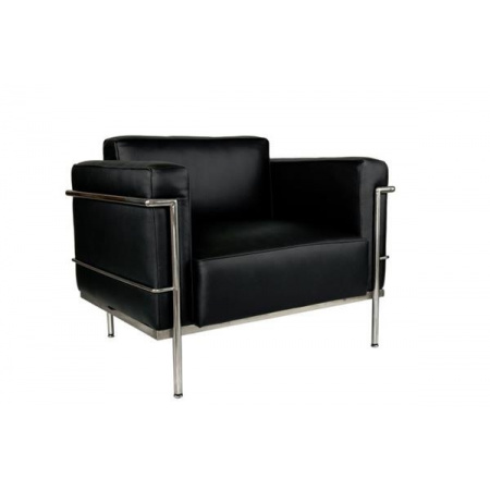 D2 Soft Grand Comfort Fotel inspirowany projektem LC3 Grand Com 104x76 cm, czarny 9750