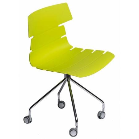 D2 Techno Roll Krzesło na kółkach 50x48 cm, zielone 63792