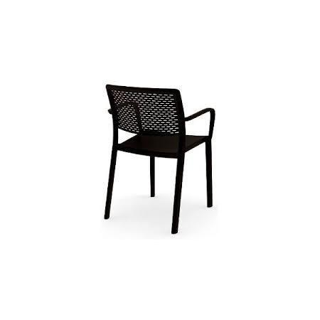 D2 Trama Krzesło z podłokietnikami 57x54 cm, czarne 23873