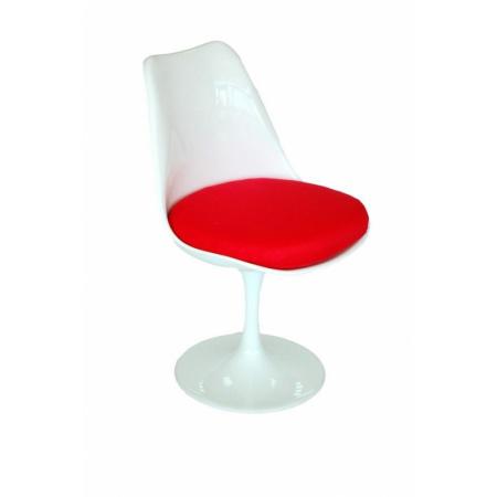 D2 Tul Krzesło inspirowane Tulip Chair 49x55 cm, czerwone/białe 3342