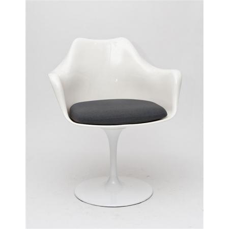 D2 TulAr Krzesło inspirowane Tulip Armchair 68x58 cm, szare/białe 13987