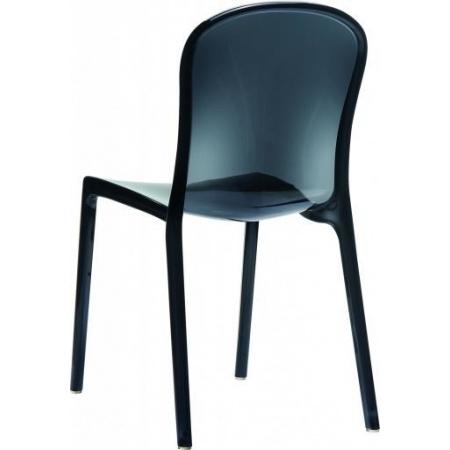 D2 Uma Krzesło 42x38 cm, czarne/przezroczyste 3254
