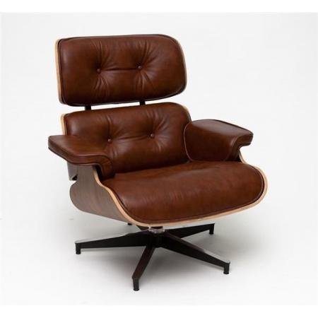 D2 Vip Fotel inspirowany Lounge Chair 87x85x80 cm, brązowy/walnut/standard base 13512