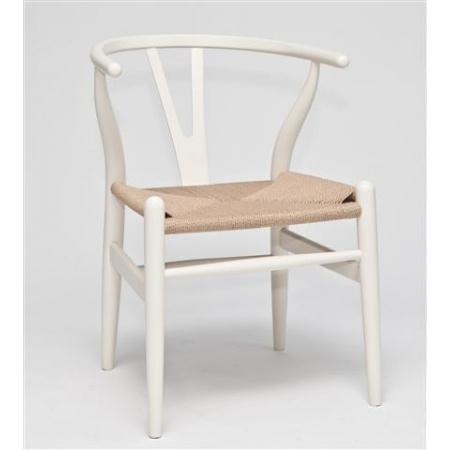 D2 Wicker Krzesło inspirowane Wishbone 54x42 cm, białe 14255