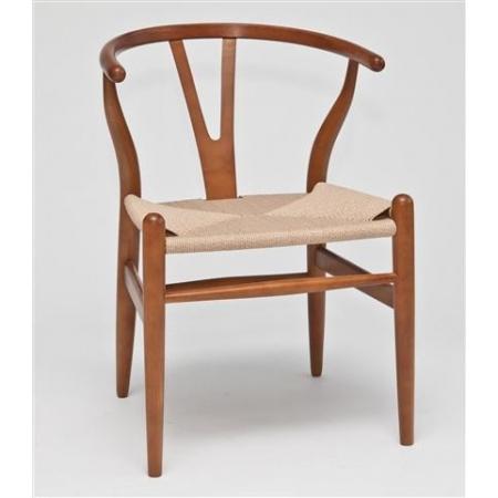 D2 Wicker Krzesło inspirowane Wishbone 54x42 cm, jasnobrązowe 12783