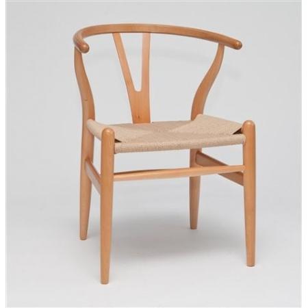 D2 Wicker Krzesło inspirowane Wishbone 54x42 cm, naturalne 5211