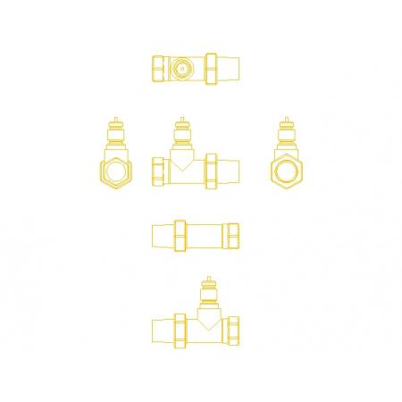 Danfoss RA-N 10 Zawór termostatyczny prosty z nastawą wstępną KVS 0,65, 013G3902