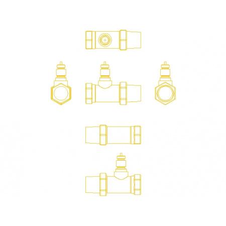 Danfoss RA-N 15 Zawór termostatyczny prosty z nastawą wstępną KVS 0,90, 013G3904