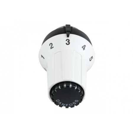 Danfoss RAS-CK Głowica termostatyczna z wbudowanym czujnikiem, biała RAL9016, czarna 013G5025