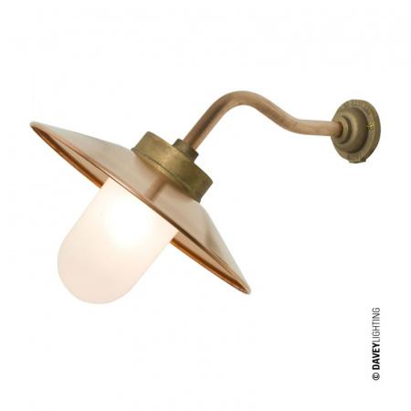 Davey Lighting Bracket Light Kinkiet zewnętrzny 34,5x38 cm IP54 Standard E27 GLS, miedziany DP7680/GM/FR/C