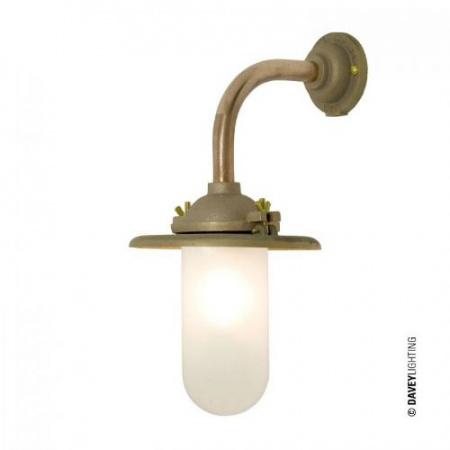 Davey Lighting Bracket Light Kinkiet zewnętrzny 36,5x23 cm IP54 Standard E27 GLS, miedziany DP7685/GM/060C/AC