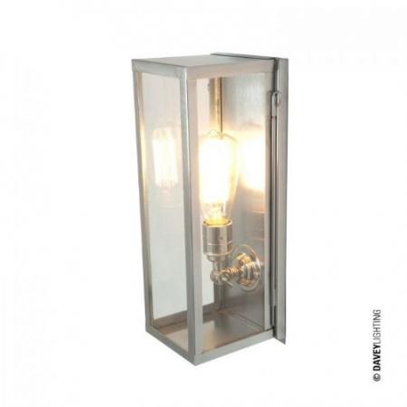 Davey Lighting Narrow Box Kinkiet 36x13 cm IP44 Standard E27 GLS, satynowy niklowy DP7650/NP/SA/FR