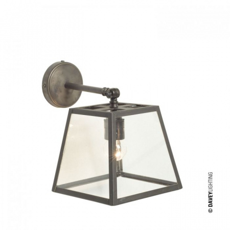 Davey Lighting Quad Kinkiet 24,5x18 cm IP20 Standard E27 GLS, mosiężny polerowany DP7636/BR/PO/BRKT