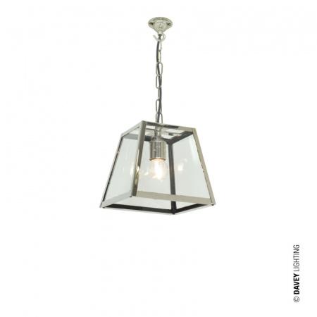 Davey Lighting Large Quad Light Lampa wisząca 19,5x18 cm IP20 Standard E27 GLS szkło przezroczyste, satynowy niklowa DP7636/NP/SA/PE