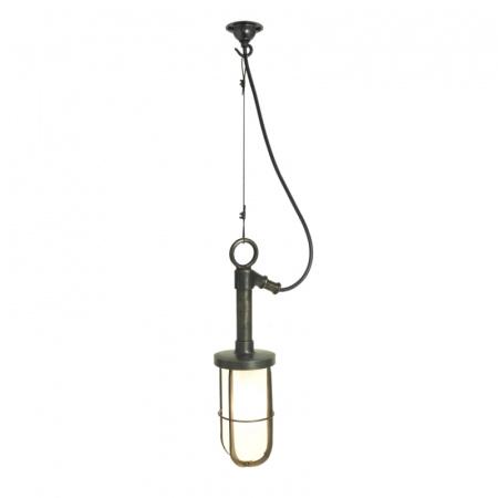 Davey Lighting Ship's Well Glass Lampa wisząca 36x10 cm IP44 Standard E27 GLS szkło matowe, mosiężna DP7524/PE/BR/WE/FR