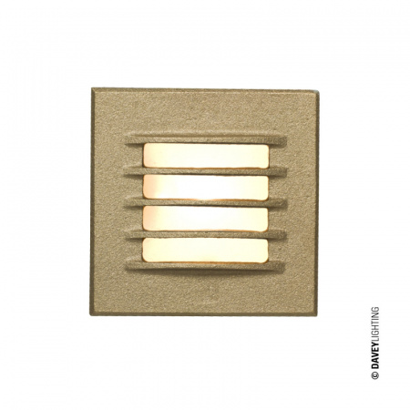 Davey Lighting Step Light Reflektor 8x8 cm IP20 G4 Capsule, brązowy DP7600/GM/SD