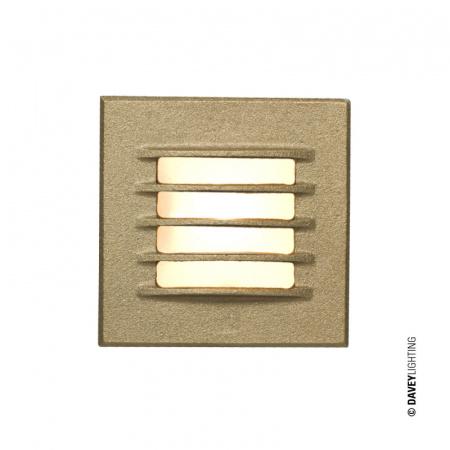 Davey Lighting Step Light Reflektor 8x8 cm IP20 G4 Capsule, brązowy DP7600/GM/SD