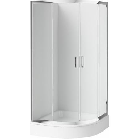 Deante Funkia Kabina prysznicowa półokrągła 80 cm, profile chrom, szkło transparentne KYP052K