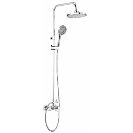 Deante Corio Zestaw prysznicowy natynkowy z deszczownicą chrom NAC019M
