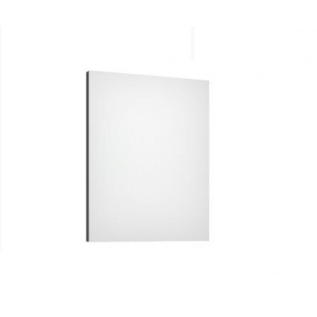 Defra Como L60 Lustro ścienne prostokątne 60x4,2x76 cm lakier grafitowy połysk 123-L-06004