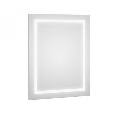 Defra Dot LED L60/L80 Lustro ścienne 60x80 cm biały połysk 217-L-06001